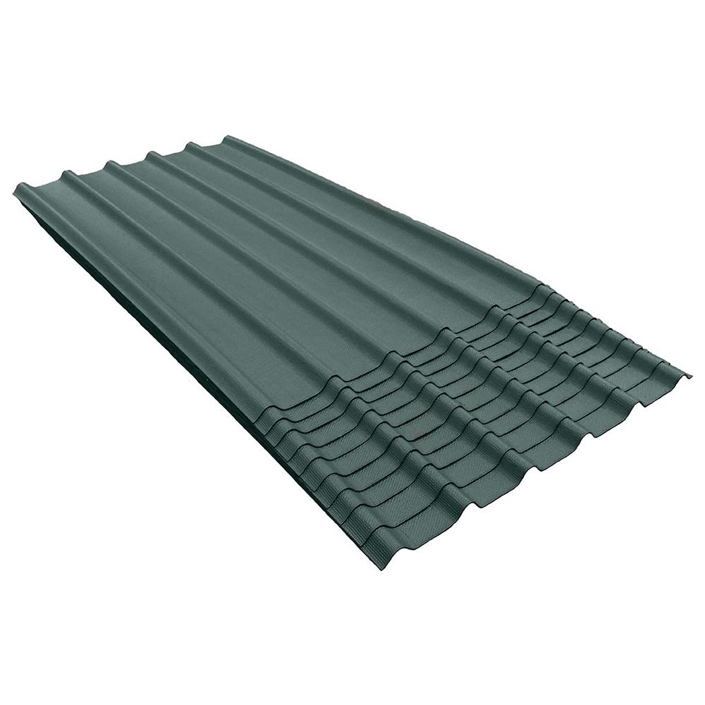 6V 6-1/2 ft. x 3.33 ft. Asphalt Roof Panel in Midwest Green (200 sq. ft. per Bundle) (10-Pack)
