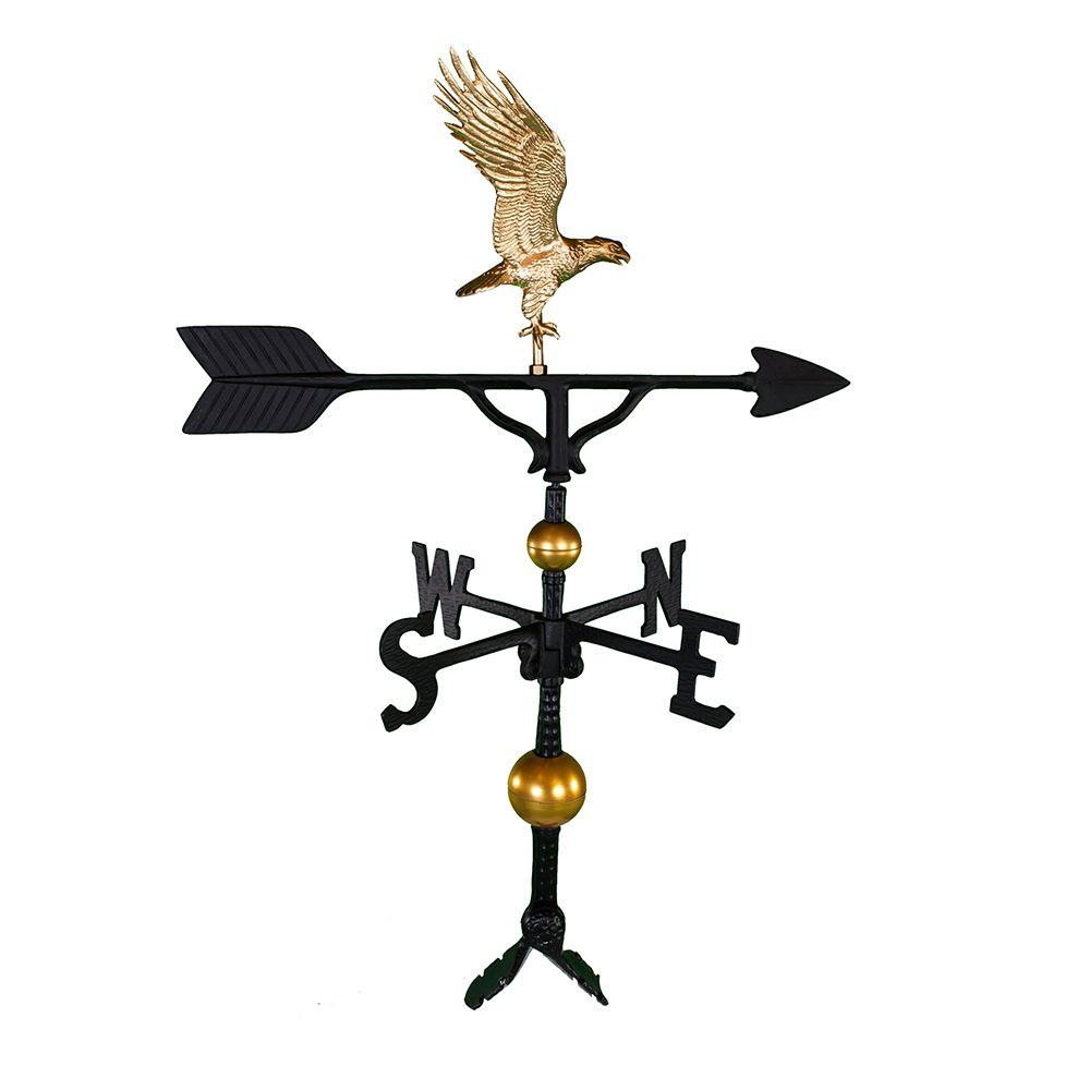 32 in. Deluxe Gold Full Bodied Eagle Weathervane