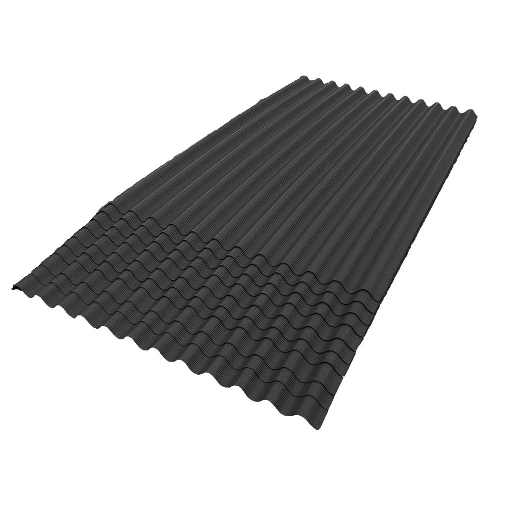 6 ft. 7 in. x 4 ft. Asphalt Corrugated Roof Panel in Black (10-Pack)