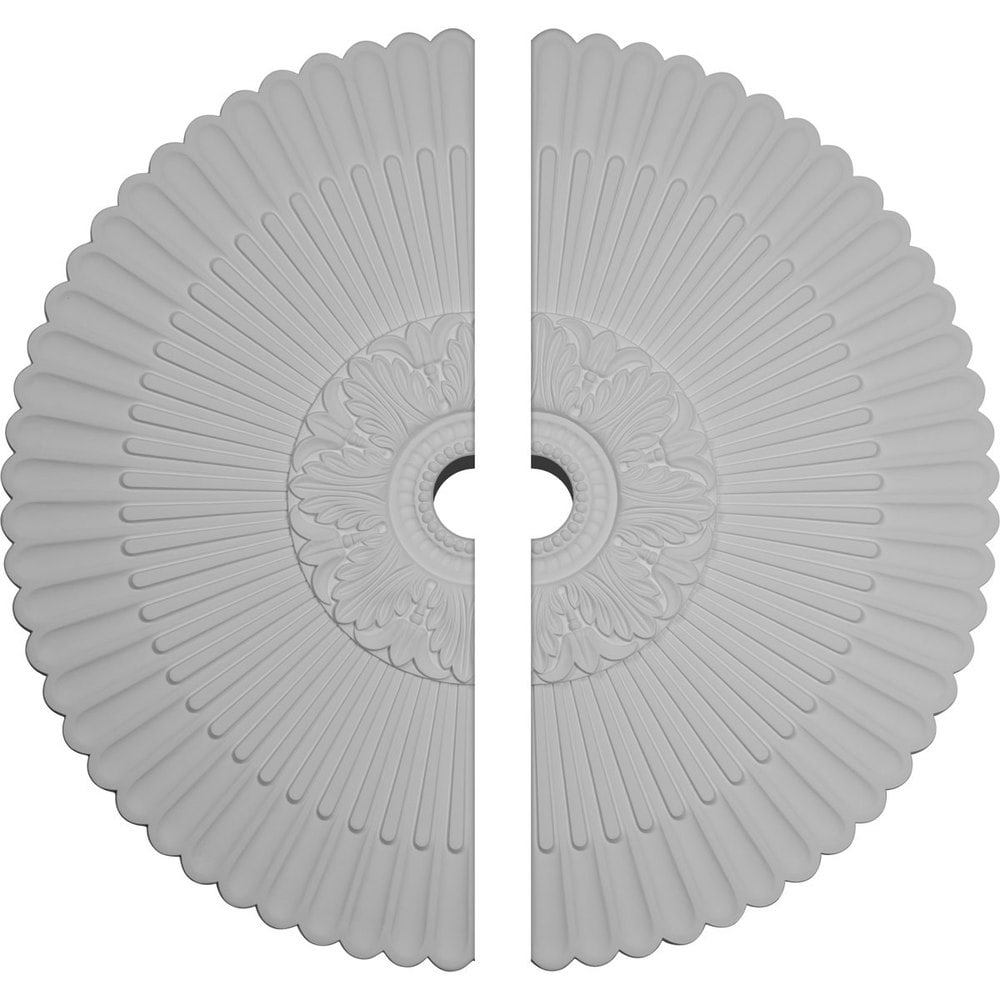 Ekena Millwork Nexus Ceiling Medallion/Unfinished Polyurethane / Two Piece (Fits Canopies up to 7 1/4') / 41'OD x 5 1/2'ID x 1 5/8'P / CM41NE2-05500