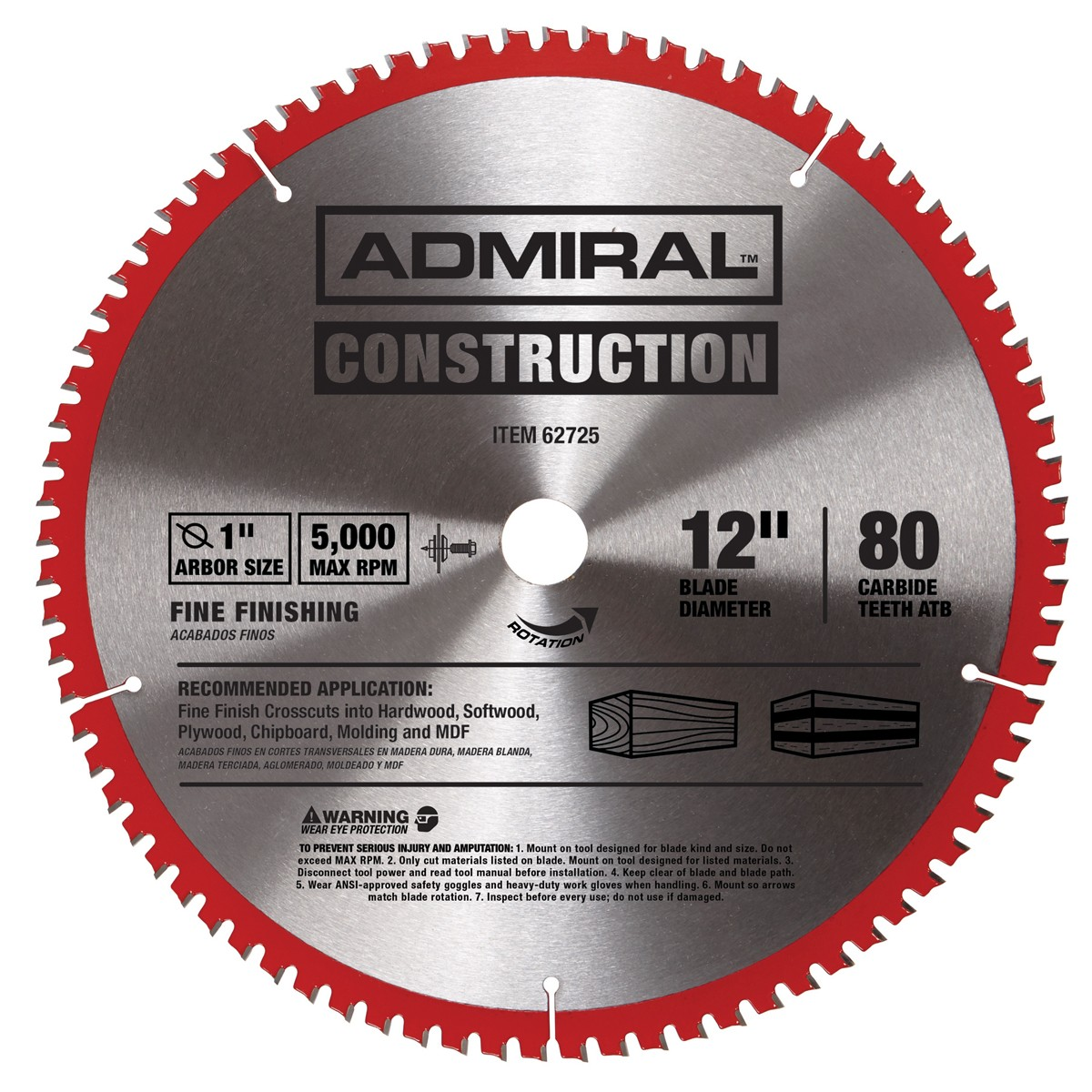 12 in. 80T Finishing Circular Saw Blade