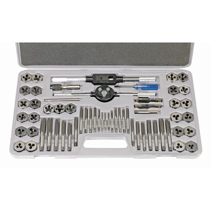 60 Pc SAE & Metric Tap and Die Set
