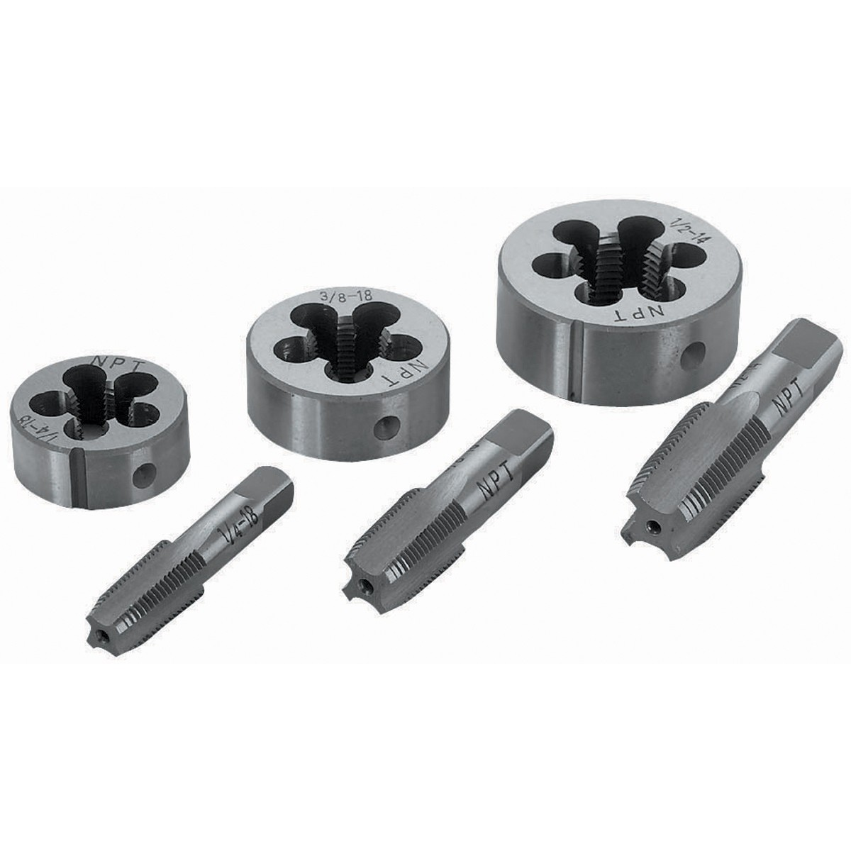 Pipe Tap & Die Set 6 Pc